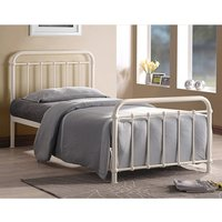 Miami Victorian Style Metal Single Bed In Ivory