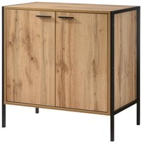 Product photograph showing Michigan Wooden Shoe Storage Cabinet In Oak With 2 Doors