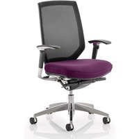 Product photograph showing Midas Black Back Office Chair With Tansy Purple Seat