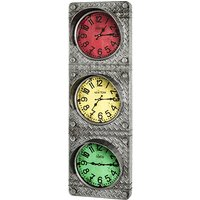 Product photograph showing Middles Metal Traffic Light Optics Clock In Anthracite Frame