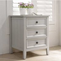 Mila Wooden Bedside Table In Clay With 3 Drawers