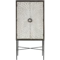 Product photograph showing Jabbah Wooden Wine Cabinet In Grey