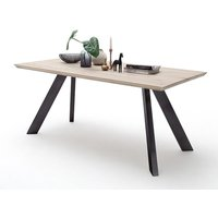 Milton 200cm Dining Table In Limed Oak With Anthracite Legs
