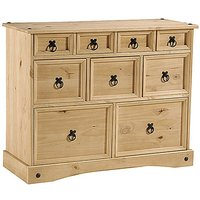 Minoris Merchant Chest Of Drawers In Light Pine With 9 Drawers