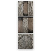 Product photograph showing Miracle Painting Wooden Wall Art In Graphite