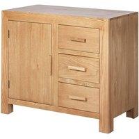 Modals Wooden Small Sideboard In Light Solid Oak