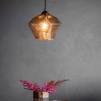 Modica Wall Hung Pendant Light in Smoked