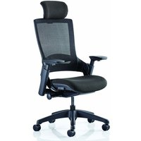 Molet Black Back Headrest Office Chair With Black Seat