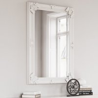 Product photograph showing Moncton Large Rectangular Bedroom Mirror In White Frame