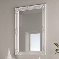 Product photograph showing Moncton Rectangular Bedroom Mirror In White Frame