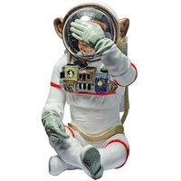 Product photograph showing Monkey Astronaut Figurine See No Evil Resin Sculpture