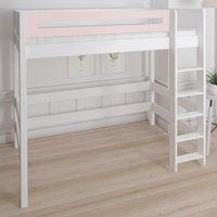 Morden Kids High Sleeper Bed With Safety Rail In Light Rose