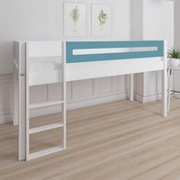 Morden Kids Mid Sleeper Bed With Safety Rail In Petroleum