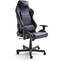 Motocross Office Chair In Black Faux Leather With Castors