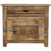 Product photograph showing Murano Wooden Bathroom Cabinet In Mango Wood With 1 Door