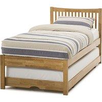 Mya Hevea Wooden Single Bed and Guest Bed In Honey Oak