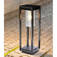 Product photograph showing Nash Outdoor Garden Post Light In Black With Clear Glass