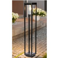 Product photograph showing Nash Outdoor Garden Tall Post Light In Black With Clear Glass