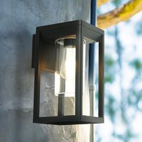 Product photograph showing Nash Outdoor Wall Light In Black With Clear Glass
