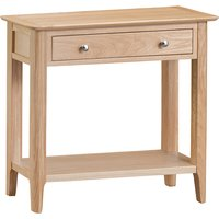 Nassau Wooden 1 Drawer Console Table In Natural Oak