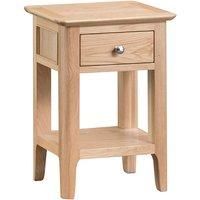 Nassau Wooden 1 Drawer Side Table In Natural Oak