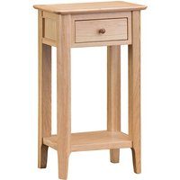 Nassau Wooden 1 Drawer Telephone Table In Natural Oak