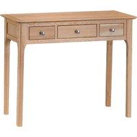 Nassau Wooden 3 Drawers Dressing Table In Natural Oak