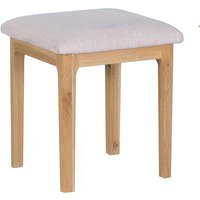 Product photograph showing Nassau Wooden Dressing Stool In Natural Oak
