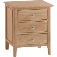 Nassau Extra Large 3 Drawers Bedside Cabinet In Natural Oak
