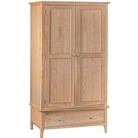 Nassau Large Wooden 2 Doors Wardrobe In Natural Oak