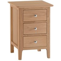 Nassau Large Wooden 3 Drawers Bedside Cabinet In Natural Oak