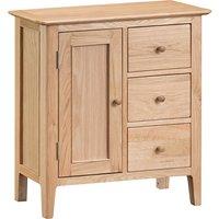 Nassau Large Wooden Storage Cabinet In Natural Oak