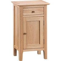 Nassau Small Wooden Storage Cabinet In Natural Oak