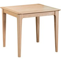 Nassau Square Wooden Small Dining Table In Natural Oak