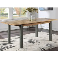 Product photograph showing Nebura Extending Wooden Dining Table In Reclaimed Wood