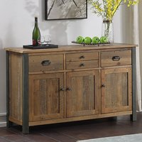 Product photograph showing Nebura Sideboard In Reclaimed Wood With 3 Doors And 4 Drawers