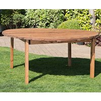 Product photograph showing Necova Large Round Wooden Dining Table