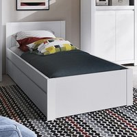 Neka Wooden Single Bed With Guest Bed In Alpine White