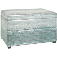 Product photograph showing Nelsonville Synthetic Leather Storage Ottoman In Grey