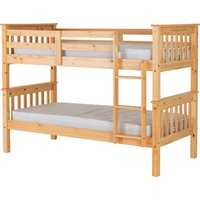 Product photograph showing Neptune Wooden Single Bunk Bed In Oak Effect