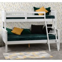 Product photograph showing Neptune Wooden Triple Sleeper Bunk Bed In White
