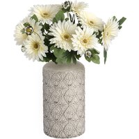 Product photograph showing Neria Ceramic Medium Decorative Vase In White