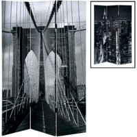 image-Brooklyn Bridge Foldable Room Divider In Canvas