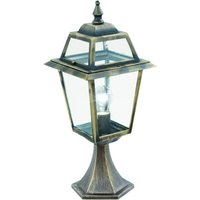 image-New Orleans Outdoor Post Lamp In Black And Gold