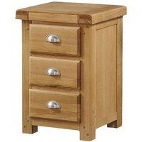 Newbridge Bedside Cabinet In Solid Wood Light Oak With 3 Drawers