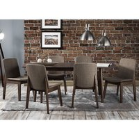 Newbury Wooden Extending Dining Table In Walnut With 4