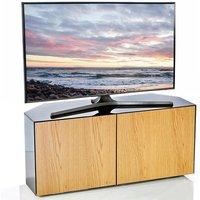 Product photograph showing Nexus Corner Tv Stand In Grey Gloss Oak Wireless Charging