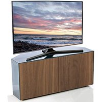 Product photograph showing Nexus Corner Tv Stand In Grey Gloss Walnut Wireless Charging