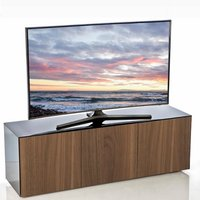 Product photograph showing Nexus Large Tv Stand In Black Gloss Walnut And Wireless Charging