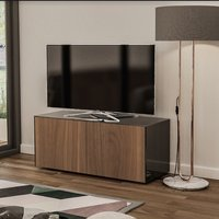 Product photograph showing Nexus Small Tv Stand In Black Gloss Walnut And Wireless Charging